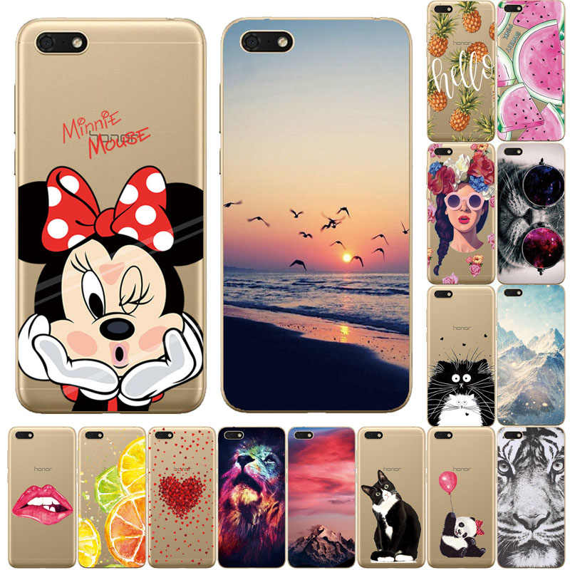 "Silicone phone Case For Huawei Honor 7A Case 5.45"" inch Soft Tpu Phone shell for Huawei Honor 7A Y5 2018 DUA L22 Russian version"