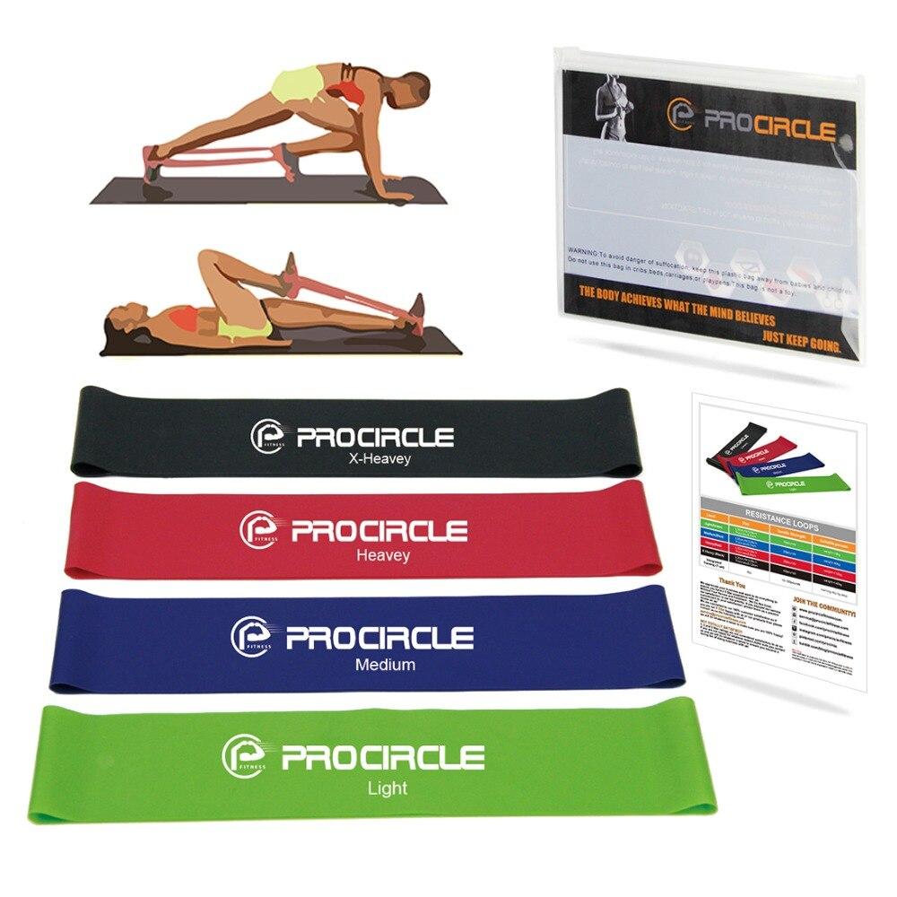 Procircle Esercizio Elastici a resistenza Set 11 Livelli di anello elastico fascia per il fitness Pilates workout Yoga Allenamento della Forza