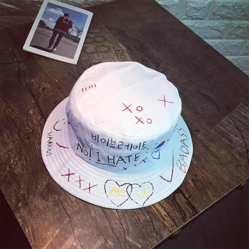 Унисекс Harajuku Панама для рыбалки, уличная Панама, хип-хоп кепка, мужская летняя шапка для рыбака, женская мужская шляпа, новинка 2018, bone feminino