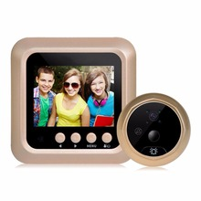 Giantree 2.4 Inch LCD Color Screen Electronic Door Bell Camera Viewer IR Night Door Peephole Camera Photo/Video Recording