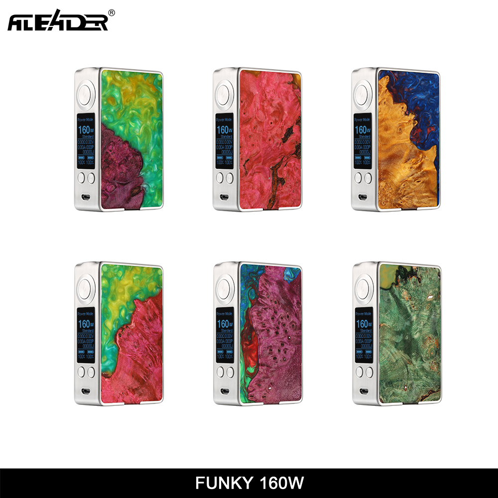 Original Aleader Funky 160W Stable Wood Box Mod vs asvape Michael VO200