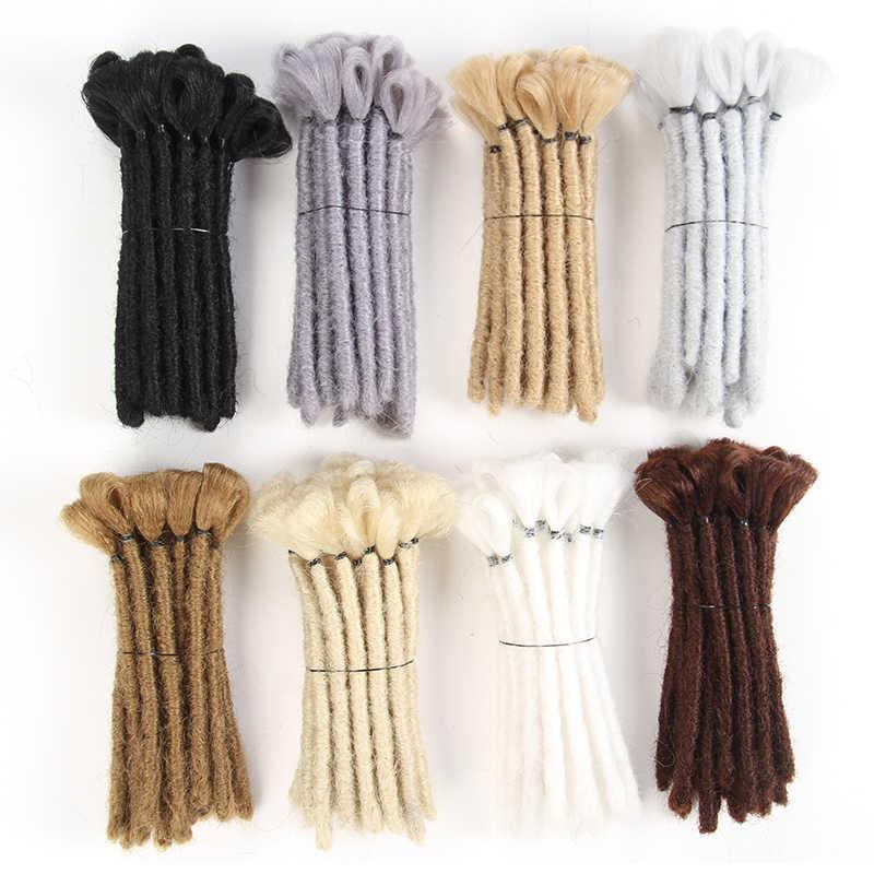 68da91c524d49 SAMBRAID Dreads Handmade Dreadlocks Hair Extensions Black 15CM Hair ...