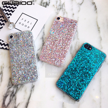 Gurioo Silicone Bling Glitter Crystal Sequins Hard shell Phone Case For iPhone 11 5 SE 6 6S 7 8 X Plus XR XS Max Protective Case-in Fitted Cases from Cellphones & Telecommunications on AliExpress