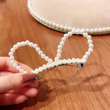 Korea Hair Accessories Flower Pearl Clips For Girls Crystal Bows Hairpins Barrette Rabbit Hairgrips