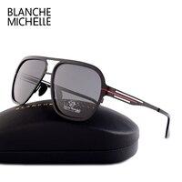 Blanche Michelle 2018 High Quality Fashion Polarized Sunglasses Men UV400 Pilot Sunglass Stainless Steel Sun Glasses
