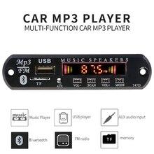 Автомобильный Bluetooth fm-радио комплект громкой связи Mp3 плеер беспроводной TF USB 3,5 мм AUX 5 в 12 В автомобильный аудио комплект модификации для динамиков
