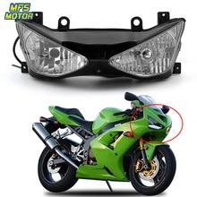 купить For 03-04 Kawasaki Ninja ZX-6R ZX6R Motorcycle Front Headlight Head Light Lamp Headlamp Assembly 2003-2004 по цене 10994.62 рублей