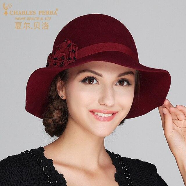 Charles Perra de las mujeres de la marca de sombrero de Otoño de 2019 de  lana 1f889610047