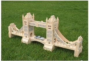 Mixed order-DIY car model-woodcraft construction kit-stereo puzzles-3D fancy toy-educational toys London Tower Bridge
