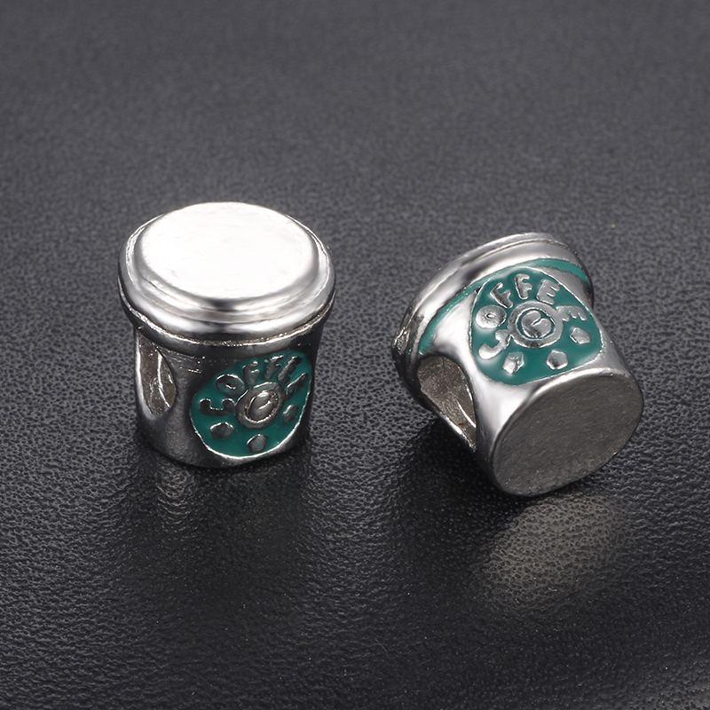HOMOD Free shipping Floating charms coffee cup,charms for Fits Pandora Bracelet&Bangles Necklace Pendant