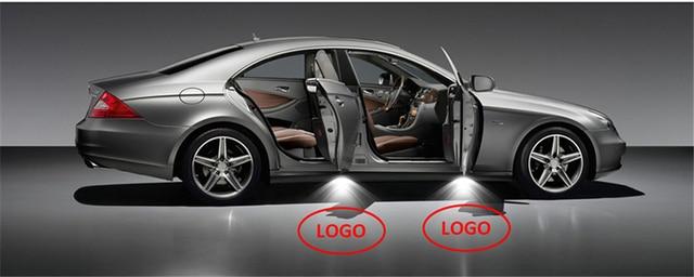 Qcdin для renault samsung hd светодиодные дверные фонари автомобиля