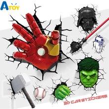 1 шт. наклейка s Toy Super Hero Marvel/DC наклейки 3D сломанные наклейки s Ironman/Spiderman/Batman креативная наклейка для автомобильного чемодана