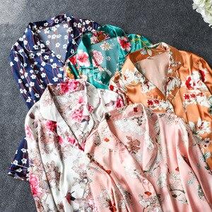 Image 5 - Daeyard Bộ Đồ Ngủ Nữ Cao Cấp Họa Tiết Áo Sơ Mi Và Quần 2 Chiếc Pyjama Set Lụa Pijama Ngủ Mùa Xuân Váy Ngủ Nhà Quần Áo