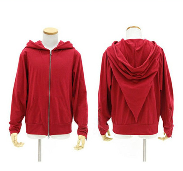 Magic Witch Wizard Casual Jacket Red Black Hoodie Sweatshirt Zipper Coat Cosplay Costumes 2