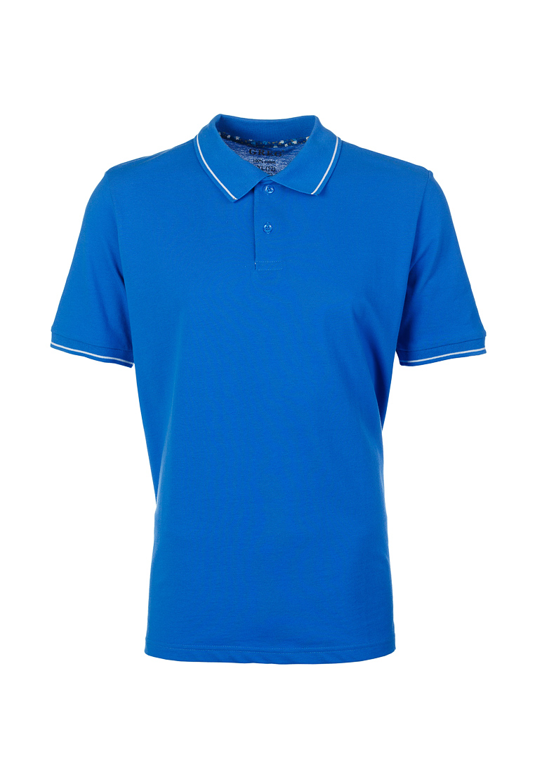 T Shirt polo short sleeve GREG G134 (blue) Blue letter embroidered turn down collar short sleeve men s polo t shirt