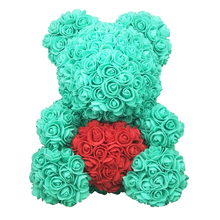 Artificial Flowers Rose Bear Model Romantic Valentines Day Gift Wedding Party Home Decoration DIY Gifts