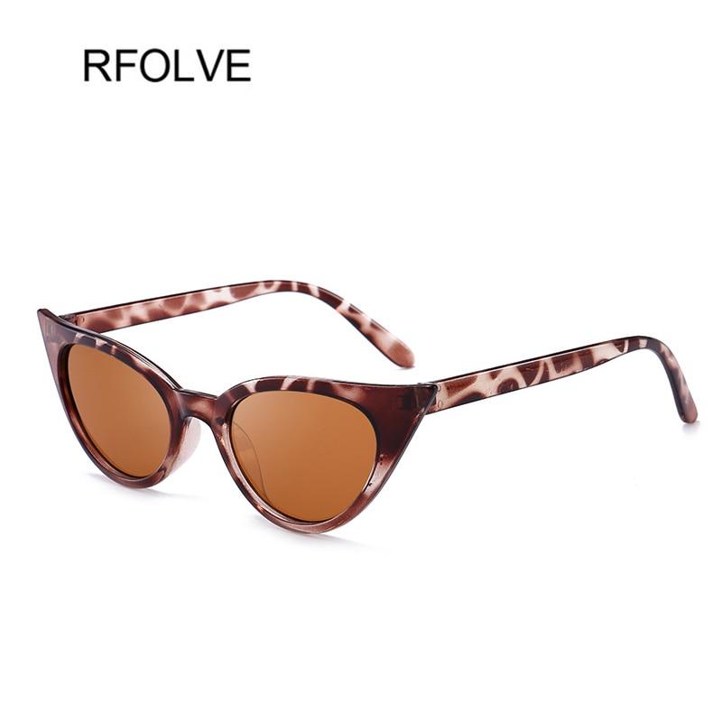 RFOLVE Fashion Cat Eye Sunglasses Women Black Leopard Frame Women Sunglassses 2018 Small Cat Eye Sun Glasses Goggles UV400 R8388