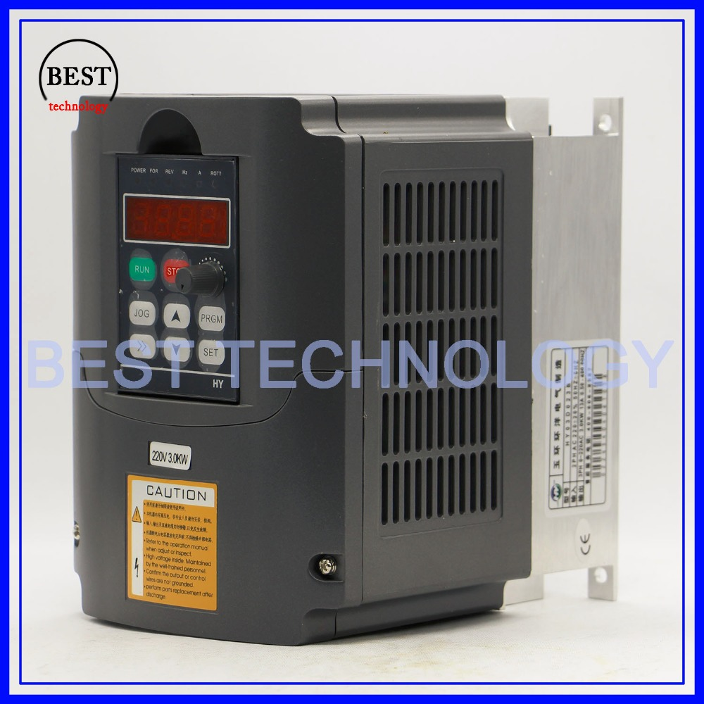 Image 2 - 220v 3.0kw  VFD Variable Frequency Drive  Inverter / VFD 1HP or 3HP Input 3HP Output CNC Driver CNC Spindle motor Speed controlinverter importerproduction stripinverter model -