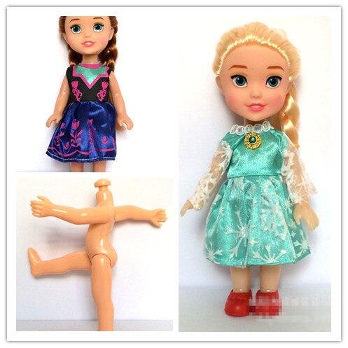 16cm/6.3 pouces princesse bébé poupées soeurs princesse enfants dessin animé jouets pour enfants fille poupée reine des neiges jouet Bonecas