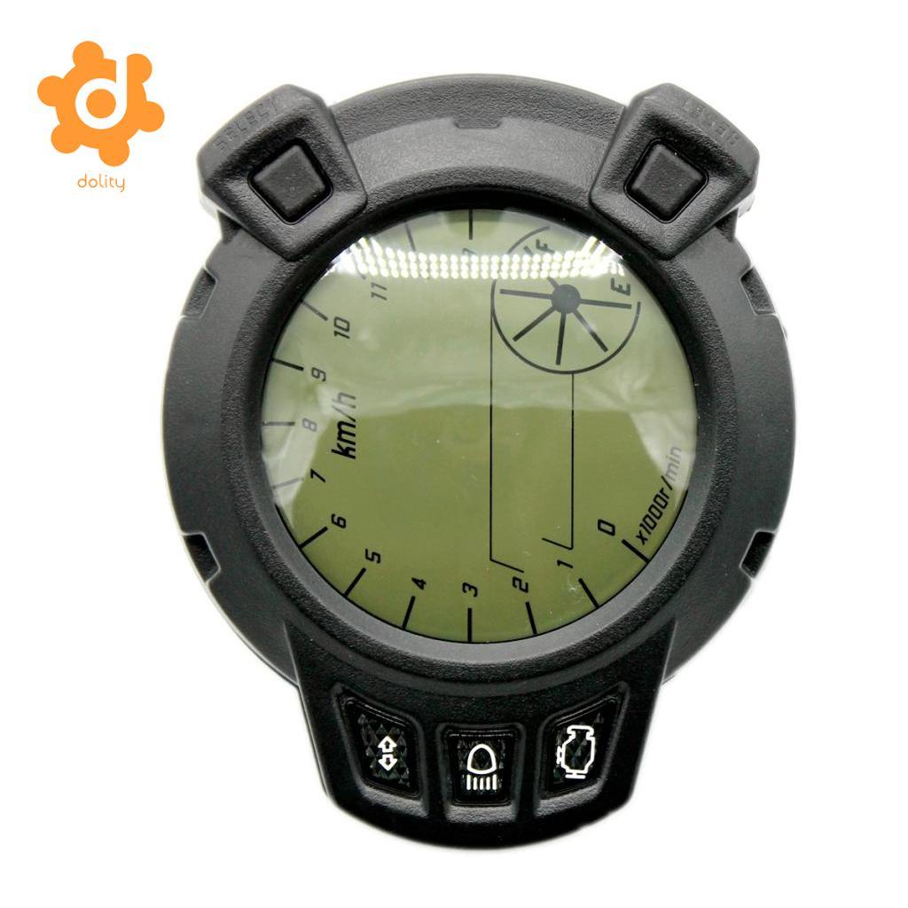 DC 12V Motorcycle LCD Digital Speedometer Tachometer Odometer Gauge