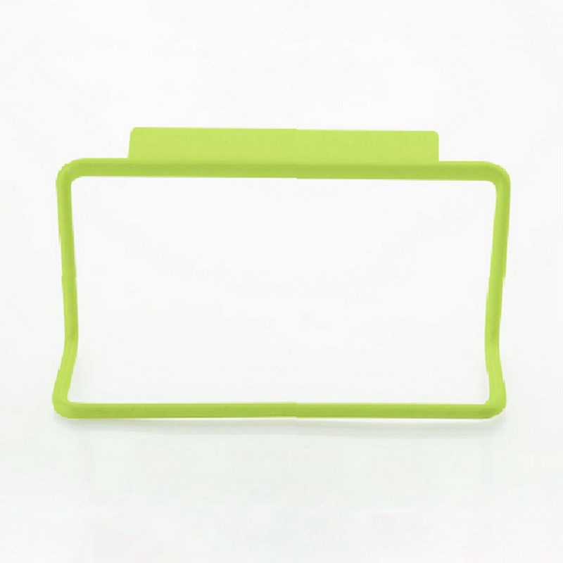 1Pc Kitchen Organizer Towel Rack Hanging Holder Bathroom Cabinet Cupboard Hanger Shelf For Kitchen Supplies Accessories(green)