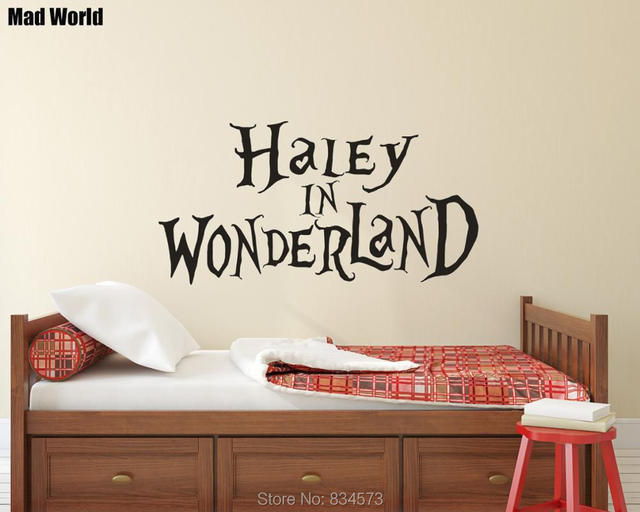 Personalised Custom Name Wonderland Baby Name Wall Art Stickers Wall ...