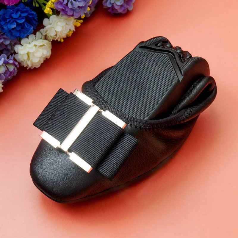 Giày Bán Buôn Thời Trang Phụ Nữ Ba Lê Phẳng Giày đầu Vuông bowknot Căn Hộ Giày Thanh Lịch Thoải Mái Phụ Nữ Trứng cuộn giày 2019 MỚI