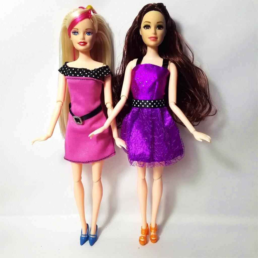 Two Set Doll Dress Newest Beautiful Handmade Party ClothesTop Fashion Dress For Barbie Noble Doll Best Child GirlsGift