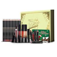Professional Lip Makeup Set Non Sticky Long Lasting Glossy Lip Gloss Lip Stick Liner Pencil Brush