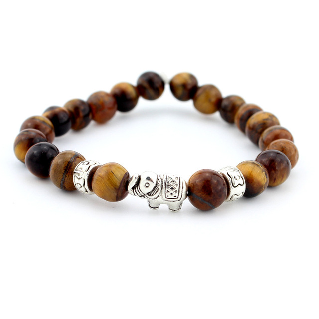 Natural Stone Bead Buddha Bracelets  For Women Men Jewelry 5