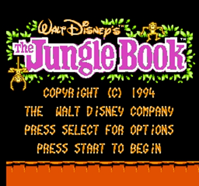 Jungle Book 60 Pin Game Card Customized For 8 Bit 60pins Game Player