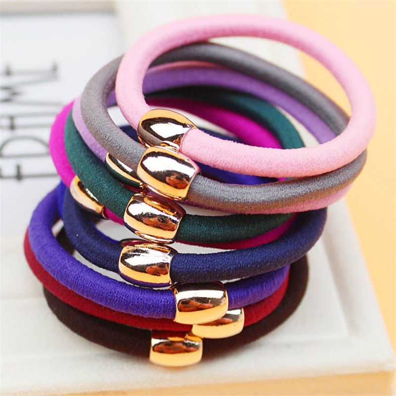 1PCS Golden Circle Solid Color Hair Accessories For Women Headband,Elastic Bands Hair For Girls,Hair Band Hair Ornaments For Kid