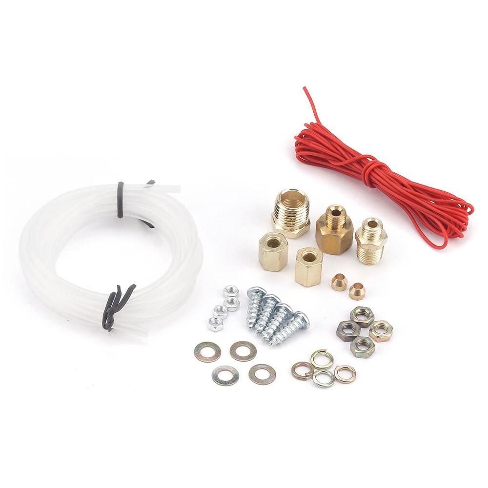 """Универсальный """" 52 мм тройной манометр, масляный манометр, вольтметр, температура воды, механический 12 В 3 в 1, хромированная панель yc10Ω"""