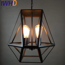 IWHD Iron Lampen 4 Heads Vintage Lamp Pendant Light Fixtures Loft Style  Retro