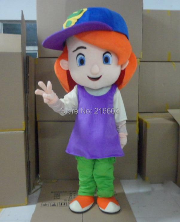 cosplay costumes Baseball Girl Red Hair Plush Cartoon Character Costume