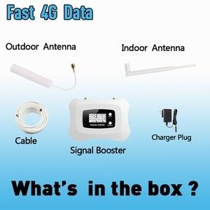 Image 5 - 4G LTE 800mhz להקת 20 70dB טלפון סלולרי אות מגבר נייד מגבר LTE 800 נייד מהדר 4G booster אנטנת סט