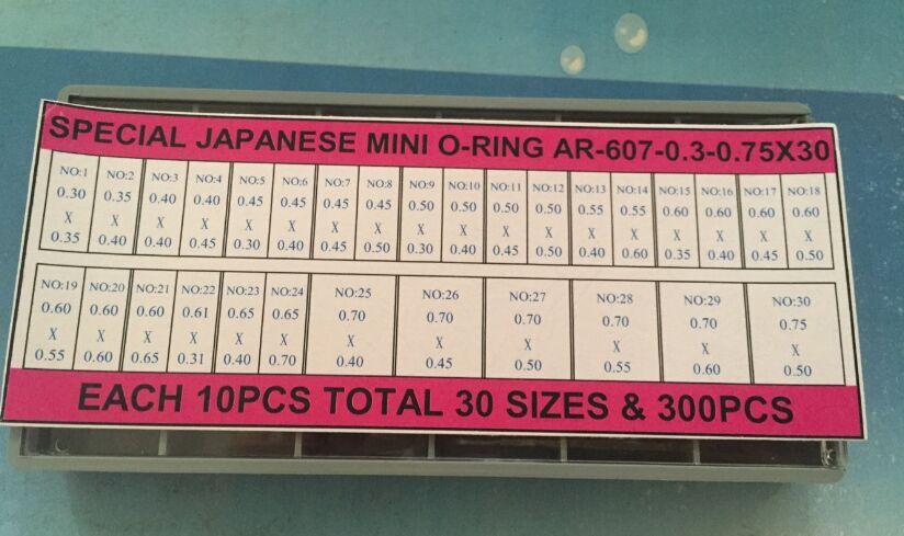 Il trasporto Libero 300 Pz Mini Vigilanza O-Ring per la Vigilanza Corona T-607-(0.3-0.75) * 30Il trasporto Libero 300 Pz Mini Vigilanza O-Ring per la Vigilanza Corona T-607-(0.3-0.75) * 30