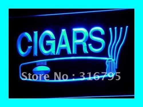 i073 OPEN Cigars Cigarette Bar Lure LED Neon Light Sign On/Off Switch 20+ Colors 5 Sizes