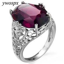 Женское романтическое кольцо ywospx серебряное с красным цирконием
