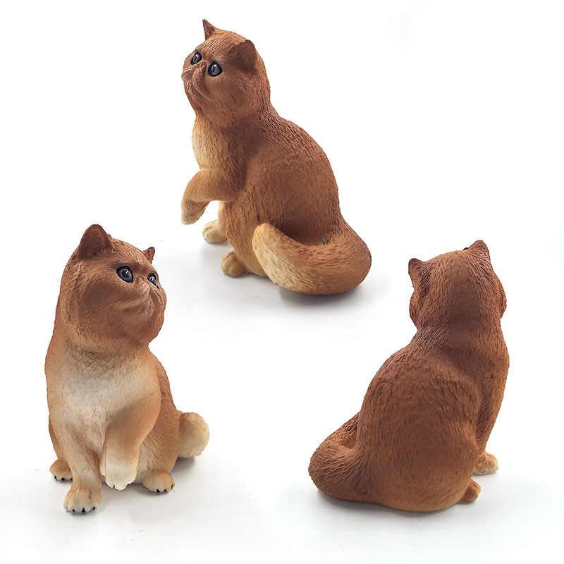 Gato Persa de simulação modelo Animal estatueta decoração de casa acessórios de decoração moderna figura da estátua do jardim de fadas em miniatura brinquedos