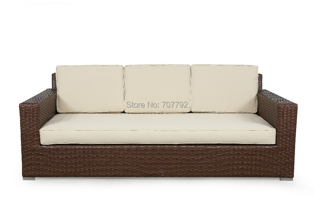 2017 Modern Style Sg 084a Outdoor Rattan Synthetic Three Seat Sofa