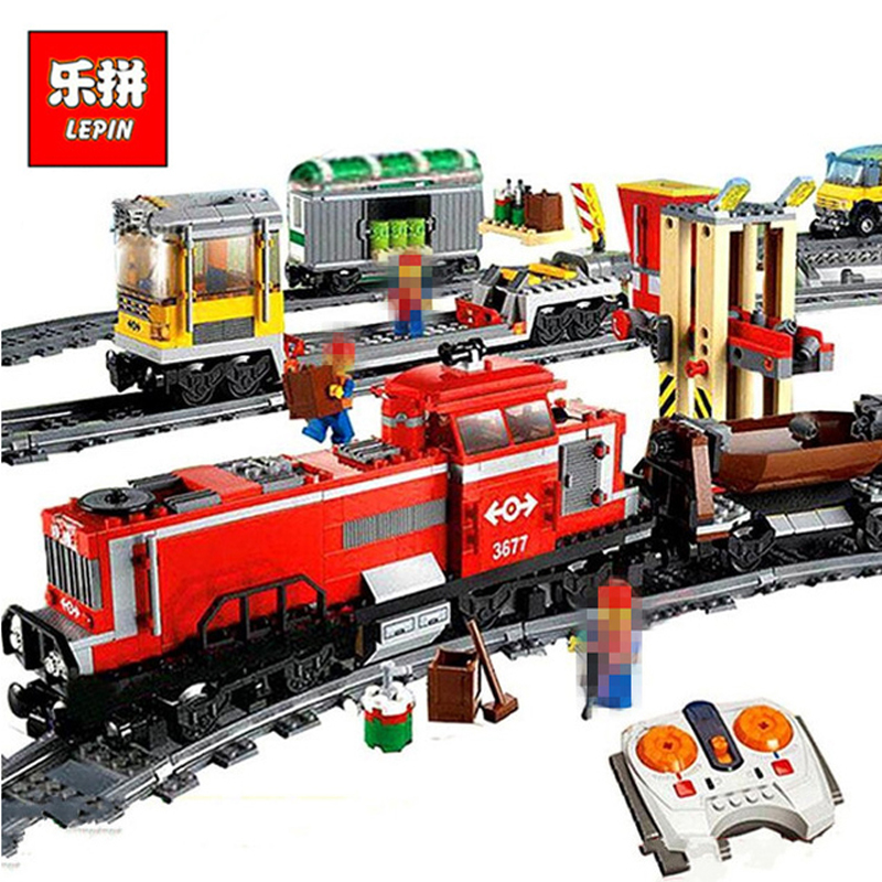 In Stock Lepin Sets 02039 898Pcs City Figures Red Cargo Train Model Building Kits Blocks Bricks Educational Kids Toys Gift 3677 in stock lepin 02012 774pcs city series deepwater exploration vessel children educational building blocks bricks toys model gift