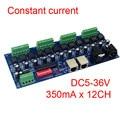 Лучшая цена 1 шт. DC5-36V 350ma постоянный ток 12 каналов dmx 512 декодер с RJ45 XRL 3P