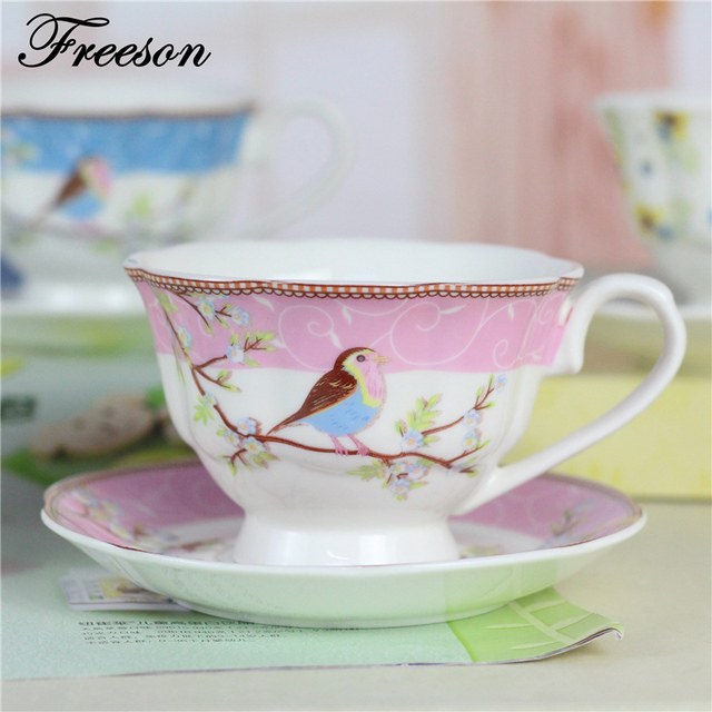 Traditional Chinese Bone China Coffee Cup Saucer Set Ceramic Teacup 200ml Advanced Porcelain Tea Tray