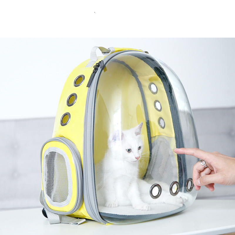 Pet Dog Carrier Backpack Transparent Bag Cat Dog Outdoor Hiking Travel Bag Pet Space Portable Bag Capsule Shaped Pet Carrier Bag