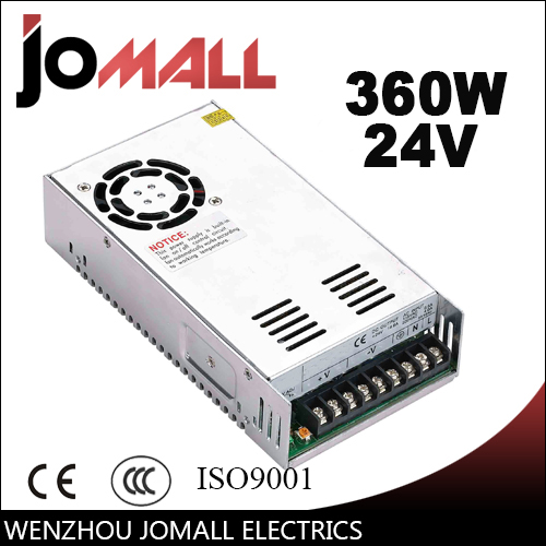Free Shipping 360W 24V 15A LED Strip CNC 3D Print Small Volume Single Output Switching power supply