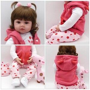 Image 5 - Bebesおもちゃ人形48センチメートルソフトシリコンリボーンベビードール人形comコーポデシリコーンmenina人形笑人形surprice