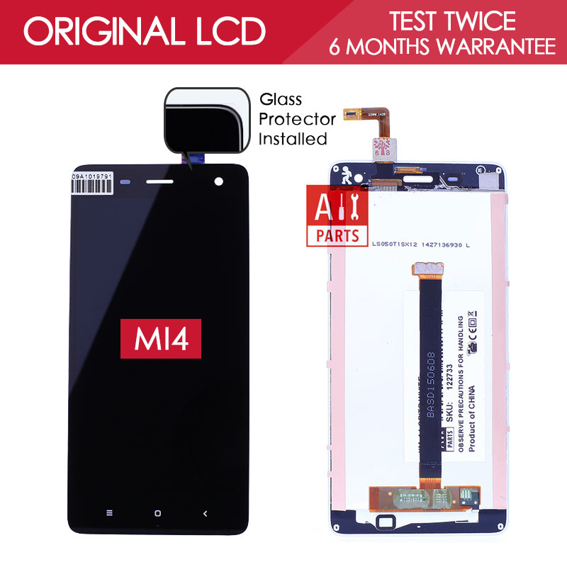 100 Tested Original Black White TFT 1920x1080 For XIAOMI MI4 Screen LCD Display with Touch Screen