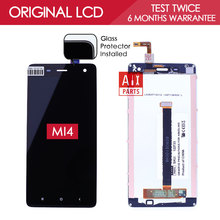 100% Tested Original Black White TFT 1920×1080 For XIAOMI MI4 Screen LCD Display with Touch Screen Digitizer Assembly MI 4 M4