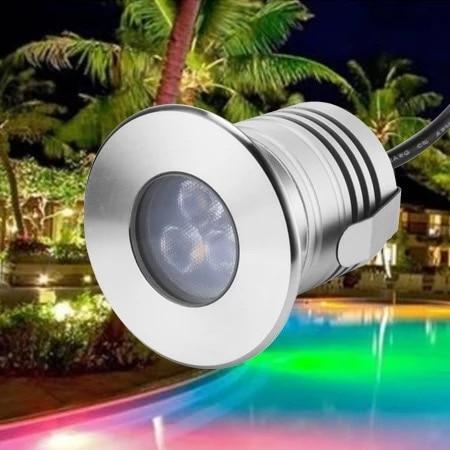 10PCS/SET 12V 3W IP68 Waterproof LED Underwater Lamp 3W Spa sauna Lake Yard Pond fountain Bulb Multicolor Swimming Pool Lighting
